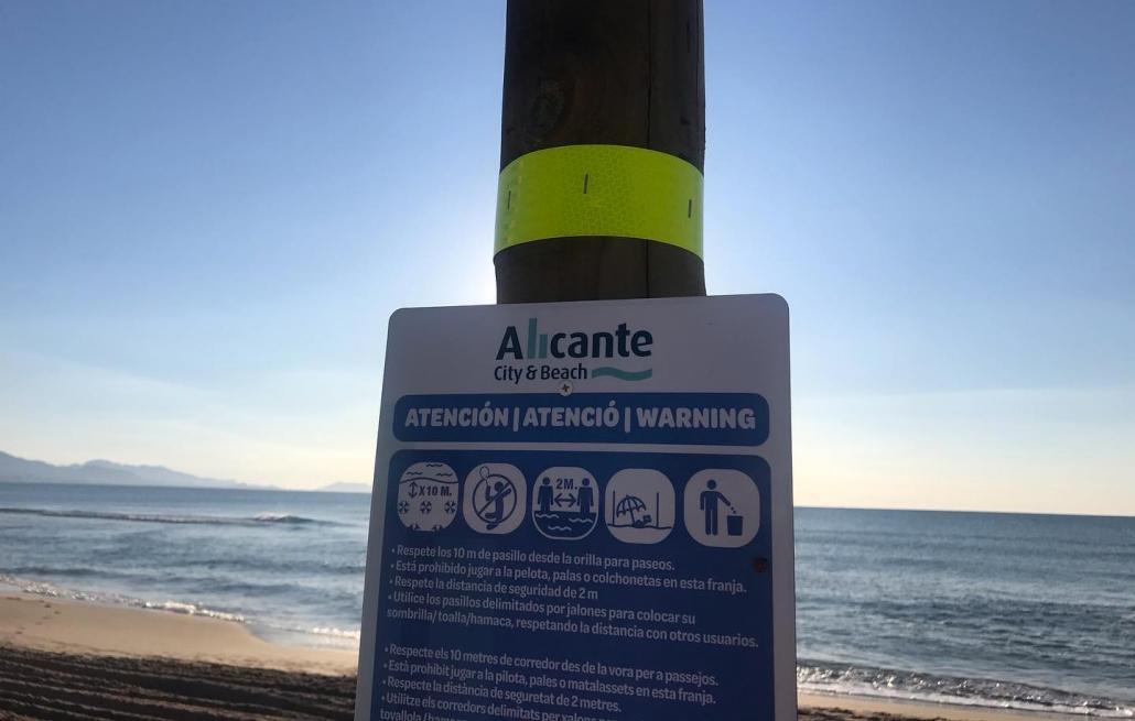 señalética-paneles-informativos-playas-Covid19-Playa-San-Juan-Ecosilvo-comunicación-y-marketing-ambiental